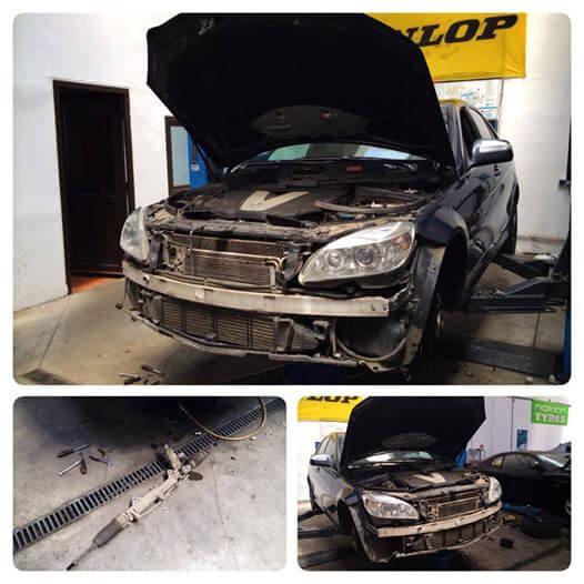 Inlocuit caseta directie + inlocuit bara fata Mercedes C Class 320CDI