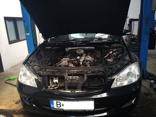 Mercedes-Benz S320CDI inlocuit pompa apatermostat